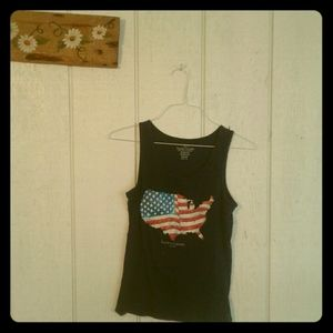 Patriotic Faded Glory Tank Top, Size M